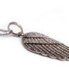 Diamond Studded Wing Necklace