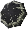 Parisian Black Skull Folding Umbrella
