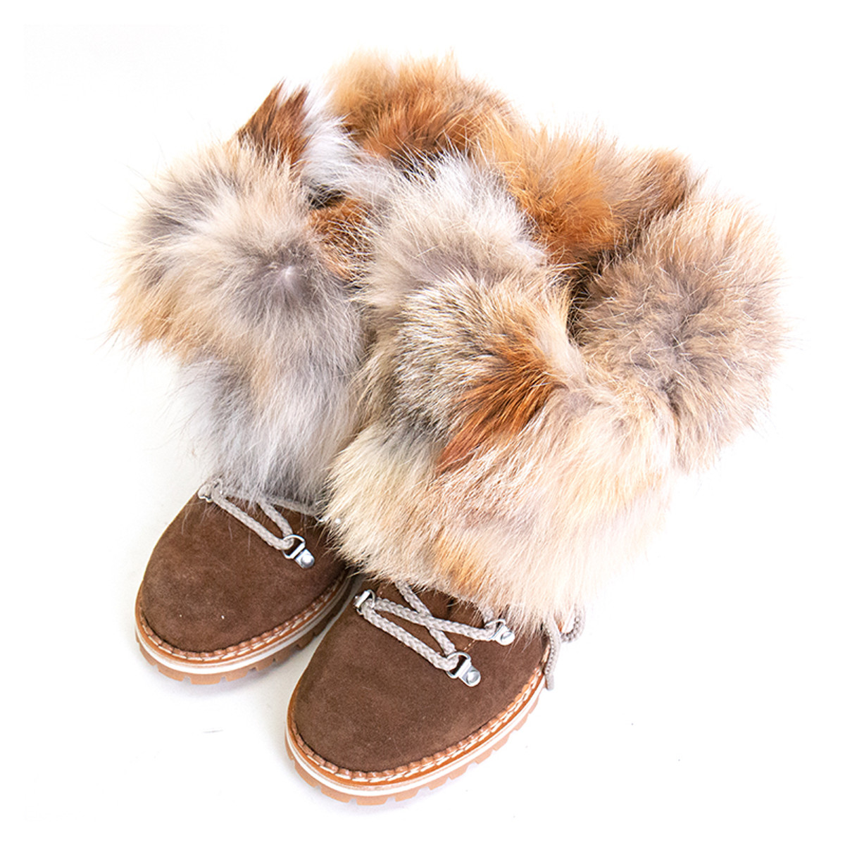 0d4b11d959012 Brown Fur Mid-Calf Boot for Women | Alan Bilzerian