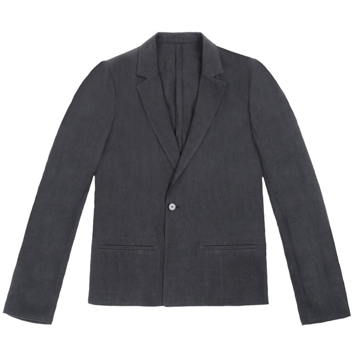 65d6d31cf5e9 Haider Ackermann Black Linen Jacket for Men | Alan Bilzerian