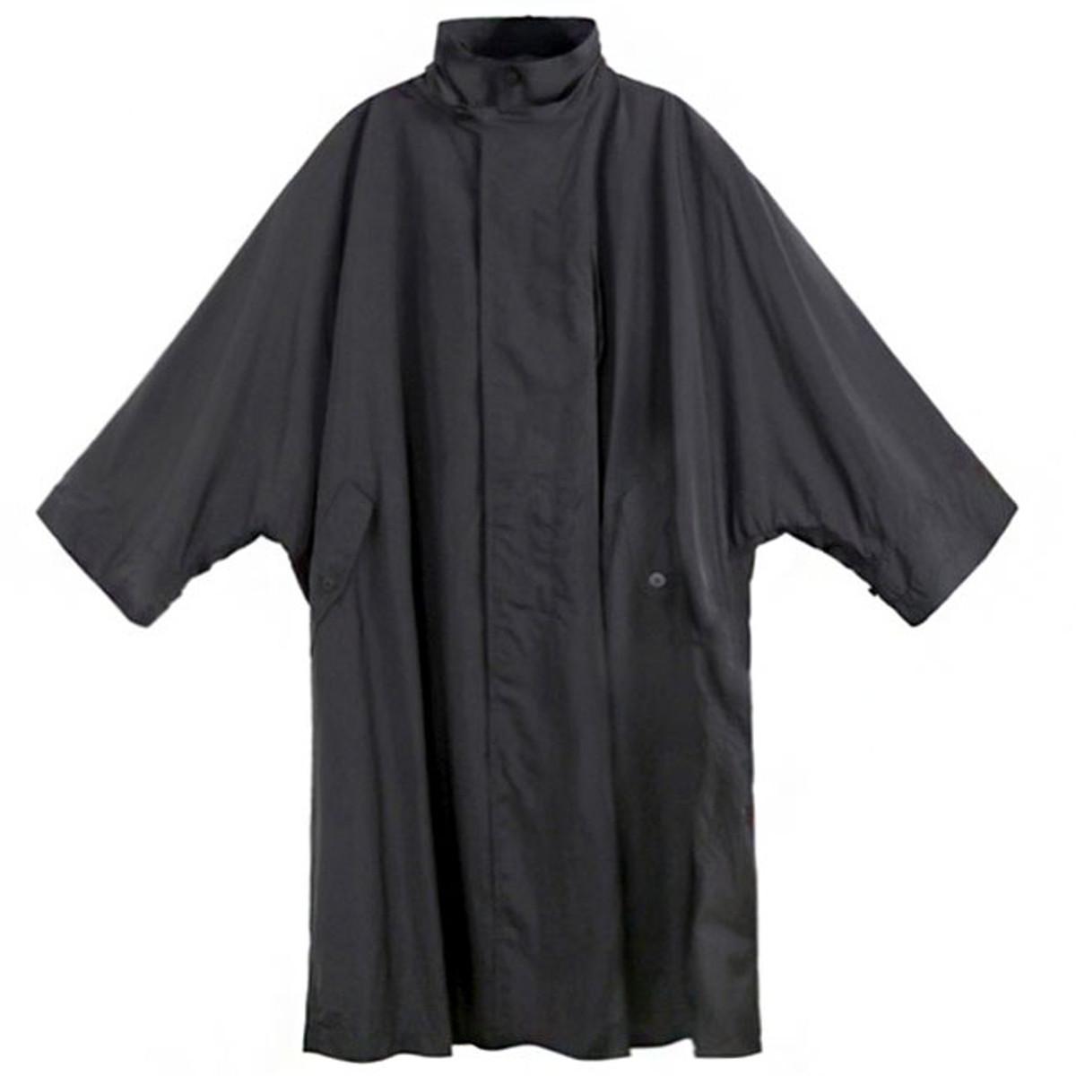 517508d4f9ab Issey Miyake Men Black Dolman Raincoat
