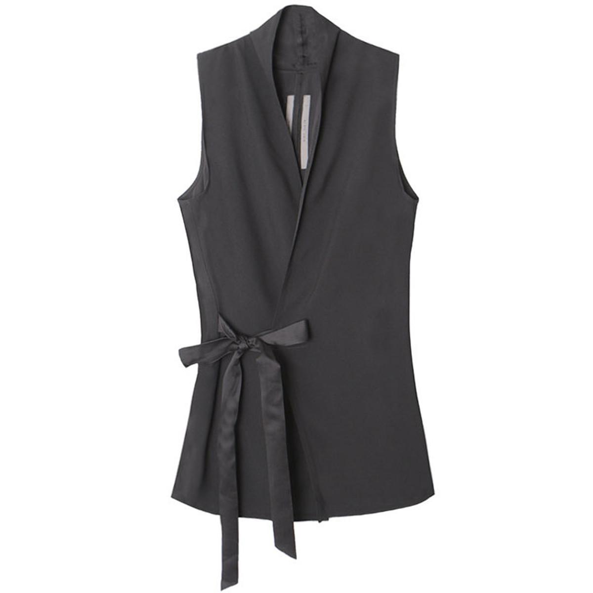 6e8cf893eecb Rick Owens Black Wrap Vest