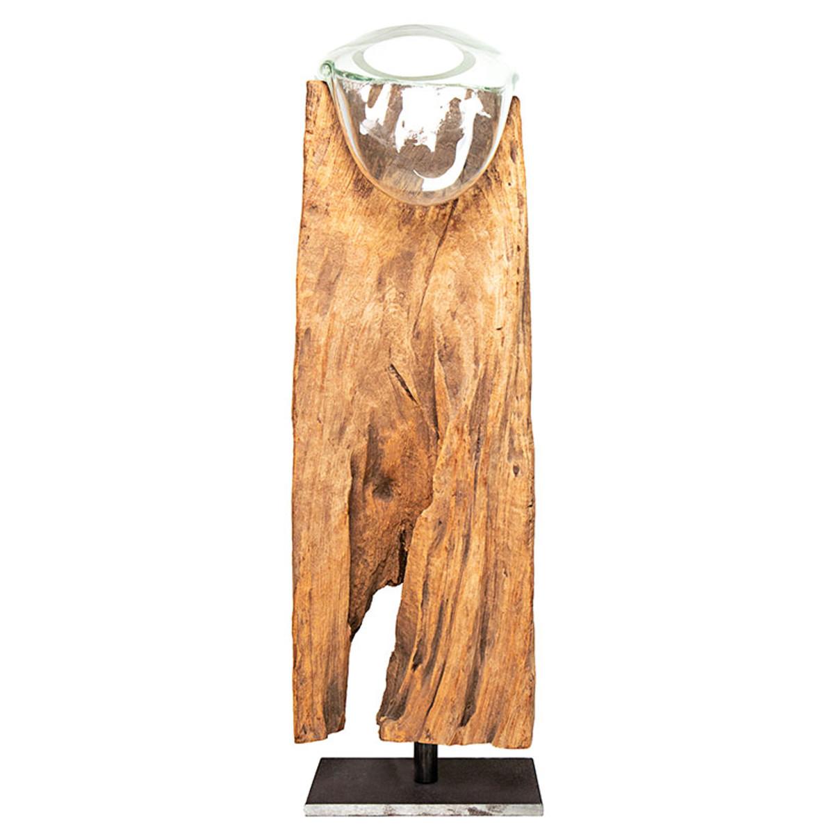 Alan Bilzerian Driftwood Glass Vase Stand Alan Bilzerian