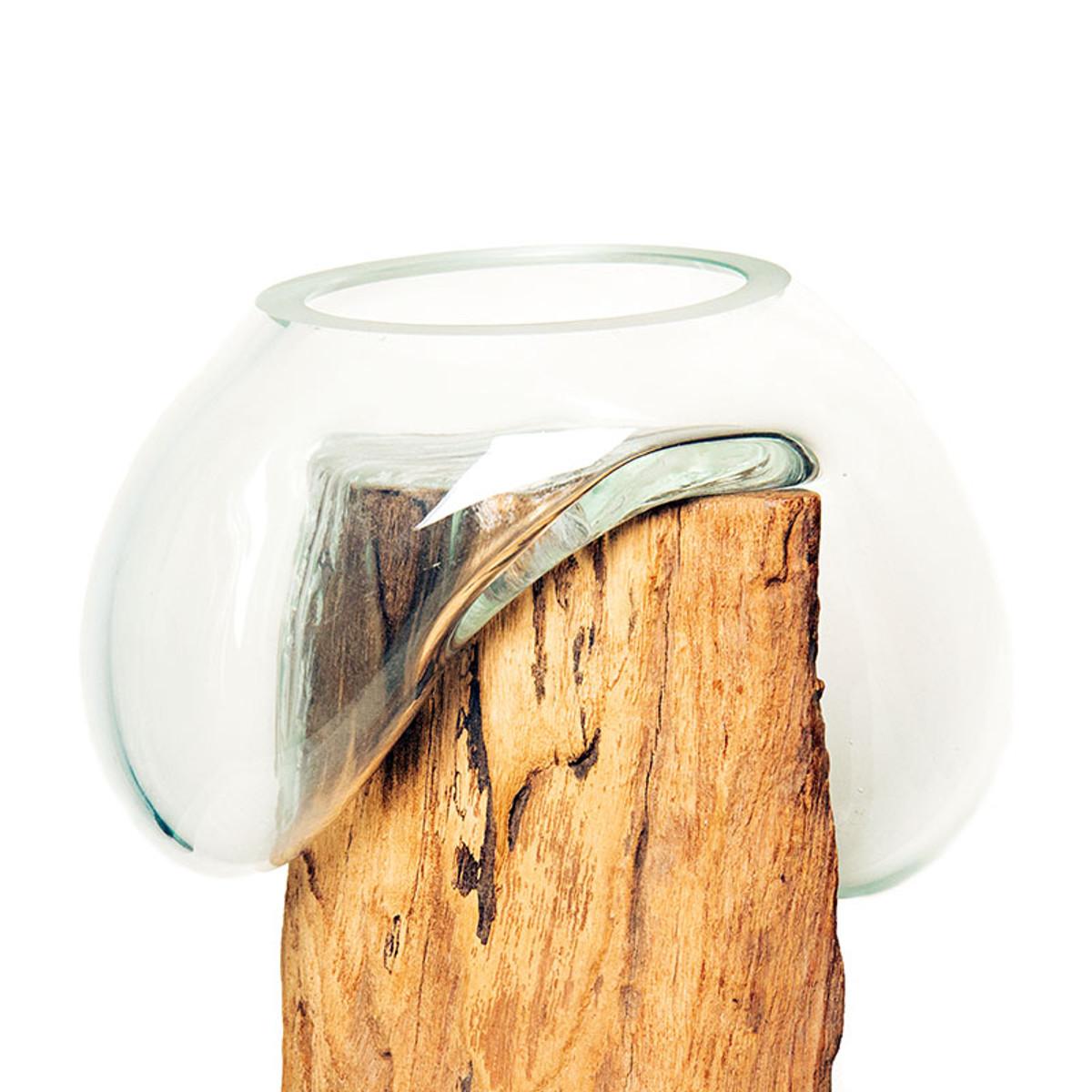 a7c7549a0df8 Alan Bilzerian Driftwood   Glass Vase Stand