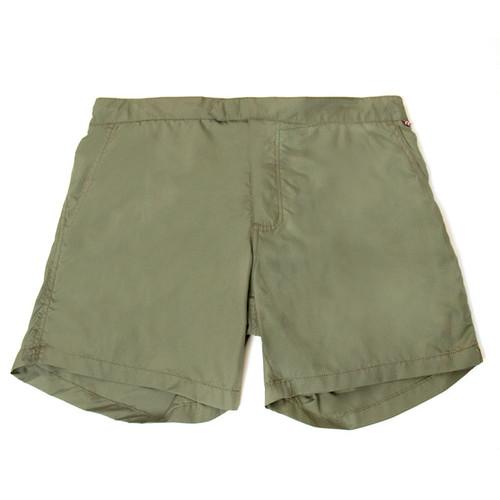 Army Green Swim Trunks