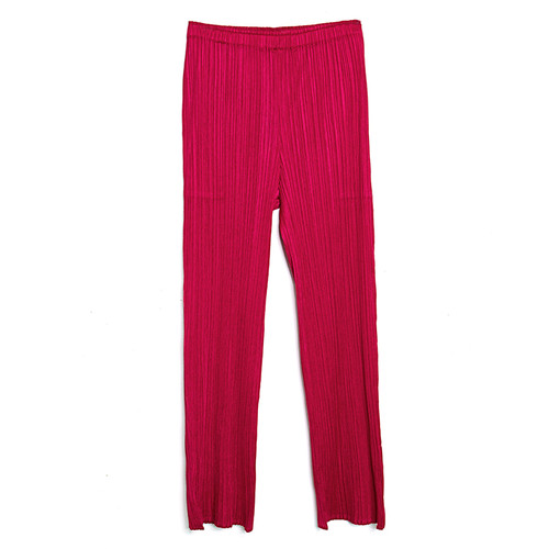 Magenta Pleated Pant