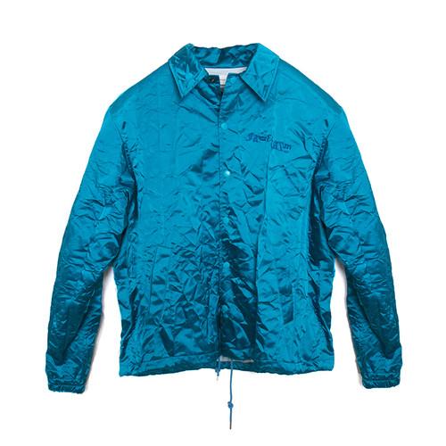 Crinkled Metallic Varsity Jacket