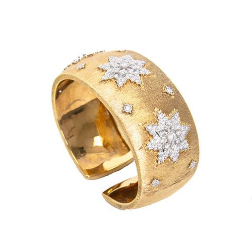 18K Gold Star Cuff