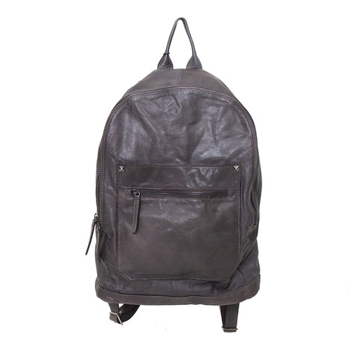 Leather Backpack with Pockets