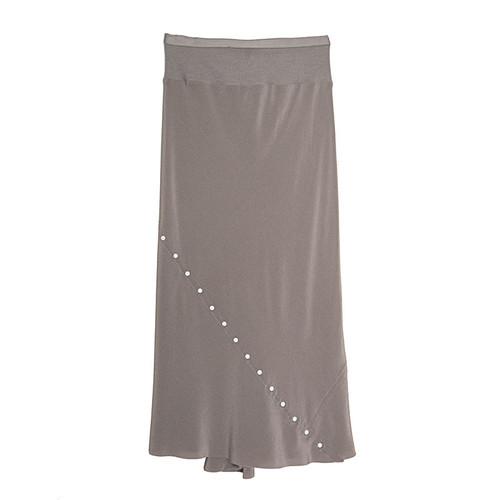 Studded Silk Skirt