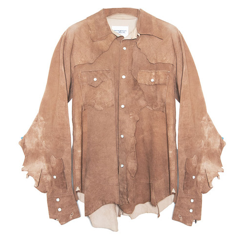 Suede Edged Shirt