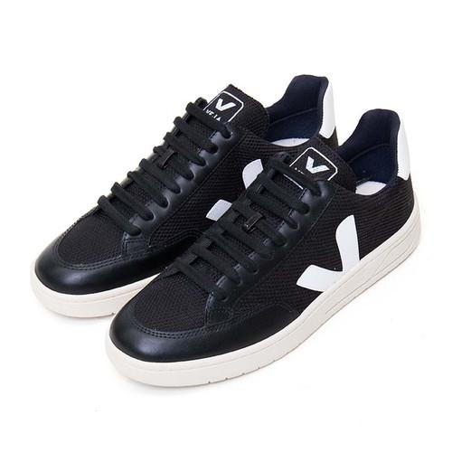 V-12 Black Mesh Sneaker