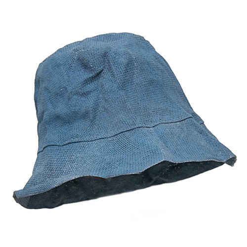 Paper-Woven Hat in Blue