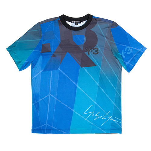 Blue Football Jersey Tee