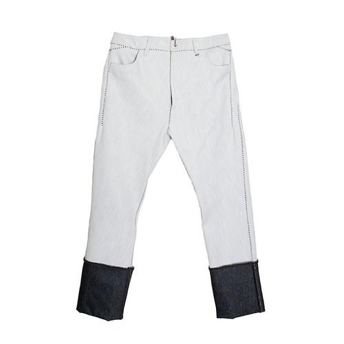 Scar Stitch White Denim Pant