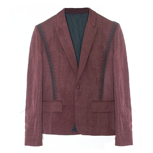 Maroon Blazer with Black Embroidery