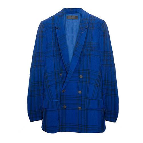 Royal Blue Plaid Blazer
