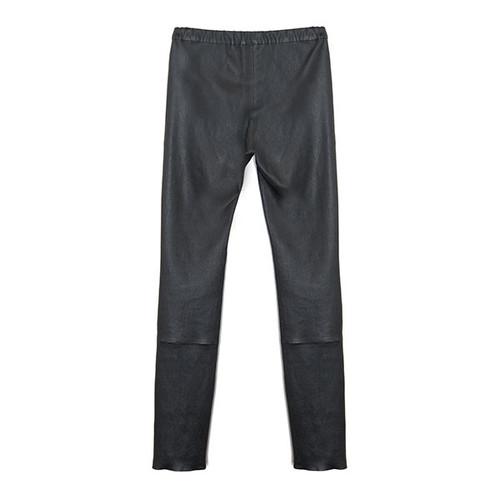 Black Laser Cut Leather Pant