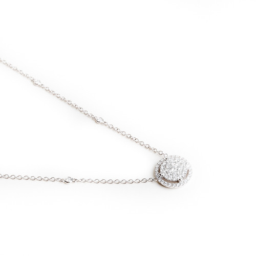 Diamond Studded Halo Necklace