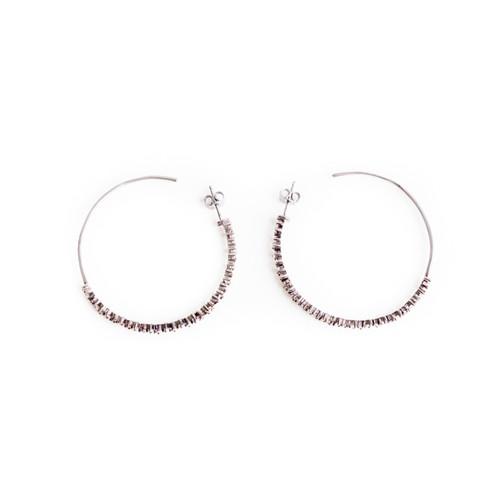 Diamond Fragment Hoop Earrings