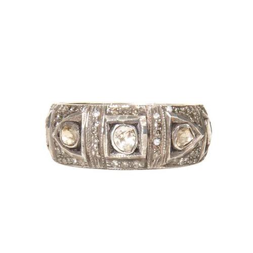 Large Diamond Pattern Ring