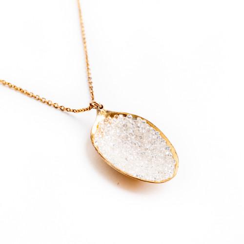 Crystal Spoon Necklace