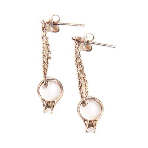 Long Diamond 'Ring' Earrings