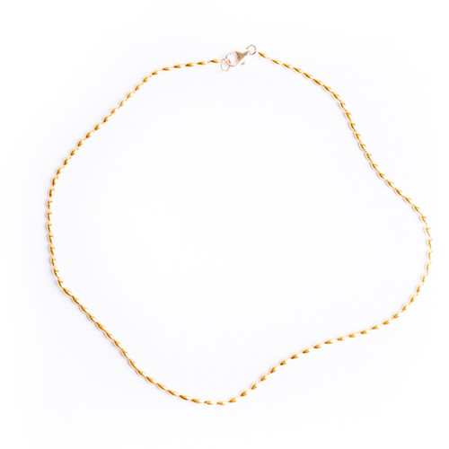 Oval Beaded Necklace