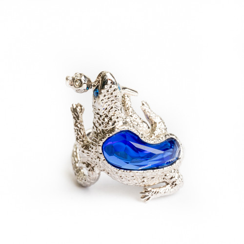 Silver Salamander Ring