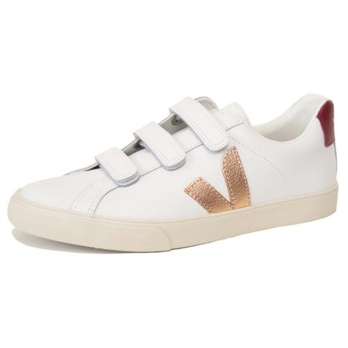 3 Lock Leather Metallic Pink Sneaker