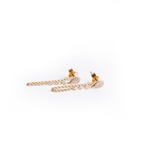 Rose Gold Drip Earrings