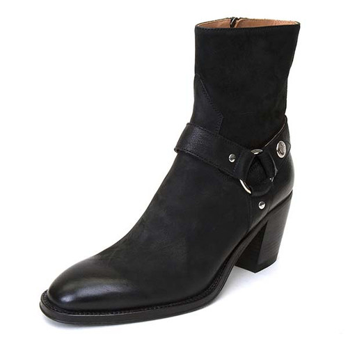 Suede Side Zip Boot