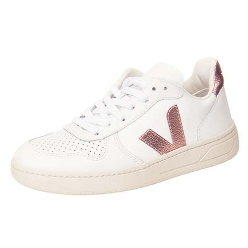 V-10 LEATHER EXTRA-WHITE Metallic V Pink Sneaker