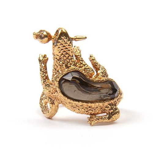Gold Salamander Ring