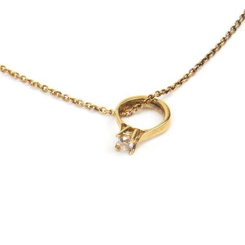 Vermeil Diamond 'Ring' Necklace