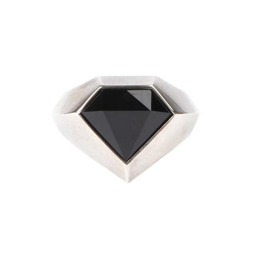 Onyx Pyramid Ring
