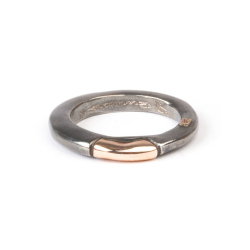 Silver and Gold Sapho Ring
