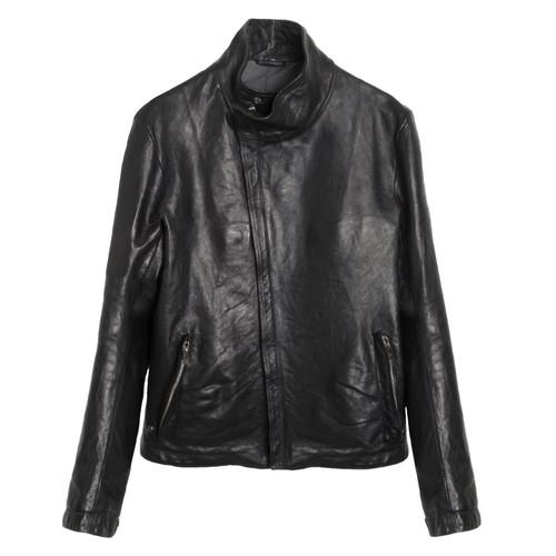 Black Kangaroo Leather Jacket