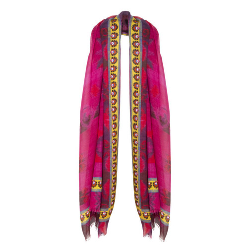 Patterned Wine Scarf