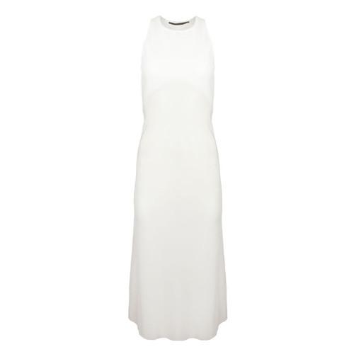White Combination Maxi Dress