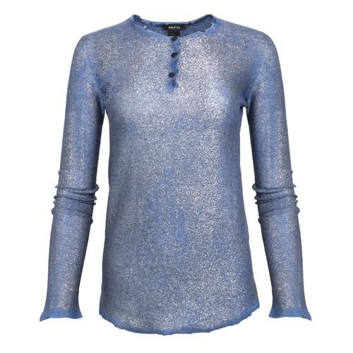 Reverse Cut-Neck Pullover