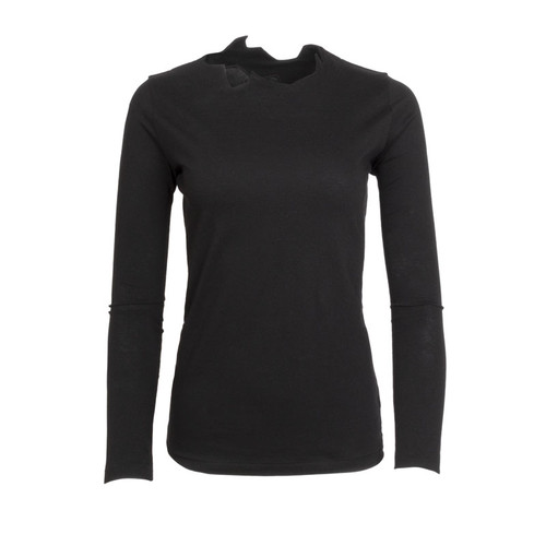 Cliff Edge Black Long Sleeve Tee