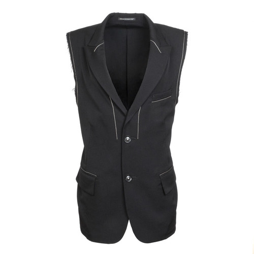 Two Button Sleeveless Jacket