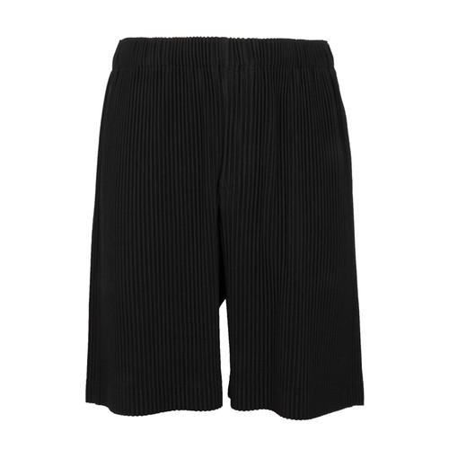 Black Pleated Shorts
