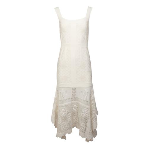 Lace Scarf Bottom Dress