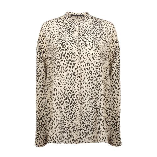 Leopard Panel Blouse