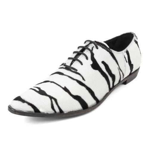 Zebra Derby Lace Up Shoe