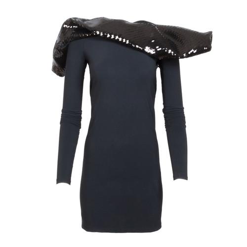 Scarf Top Mini Dress