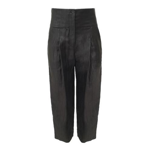 Black High Waist Cropped Trouser
