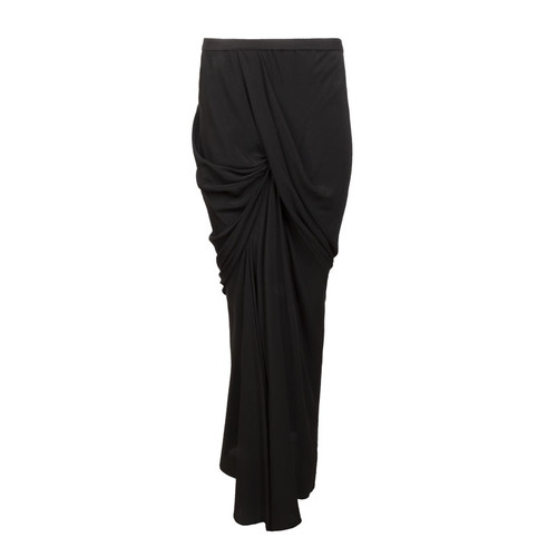 Draped Column Maxi Skirt